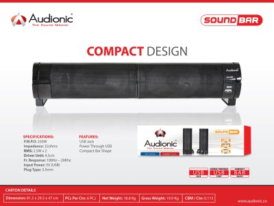 Audionic SOUNDBARNEW Portable Soundbar
