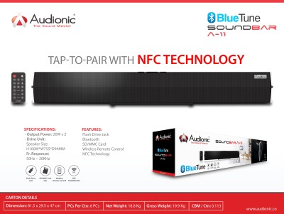 Audionic BLUETUNESOUNDBARA-11 Bluetooth Soundbar
