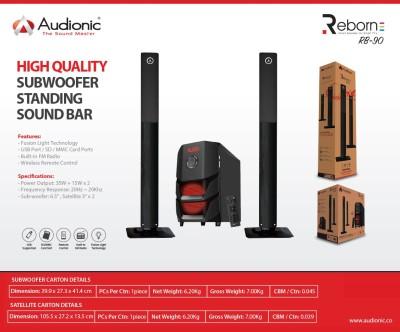 Audionic REBORNRB-90 Soundbar(Black, NA Channel)