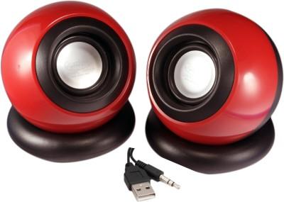 Quantum QHM 620 USB Portable Laptop/Desktop Speaker(Red, 2.0 Channel)