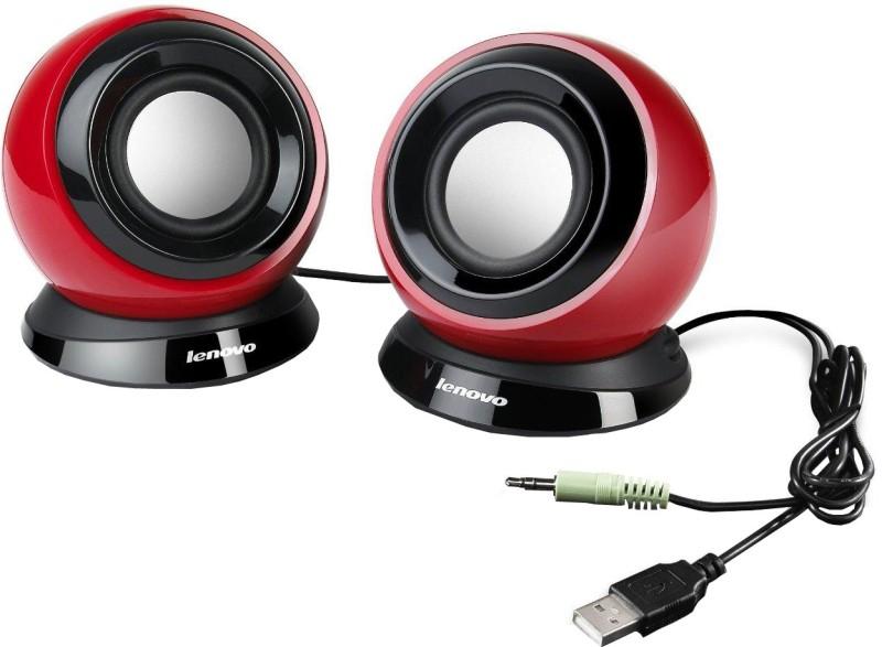 Lenovo M0520 2.0 USB Speaker(Carmine, 2 Channel)