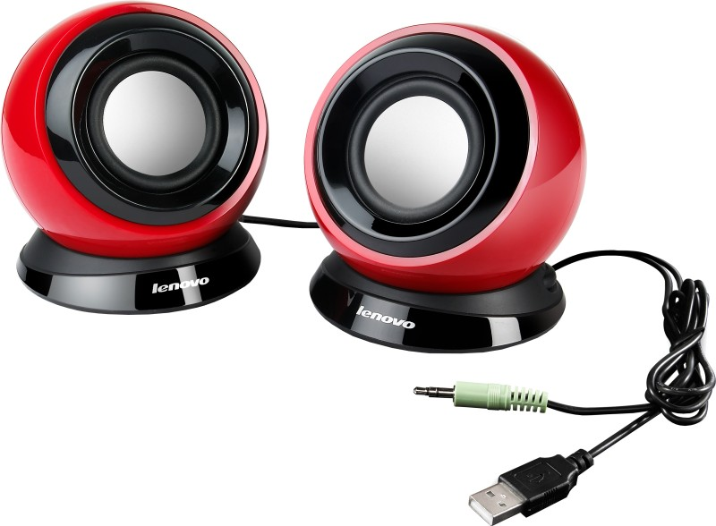 Lenovo 2.0 Channel USB Speaker - M0520(Red, 2 Channel)