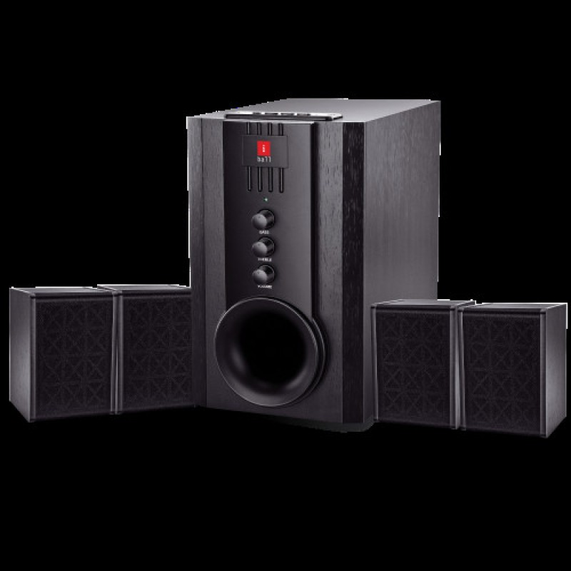 iBall Tarang 4.1 USB, FM, SD/MMC Home Audio Speaker(Black, 4.1 Channel)