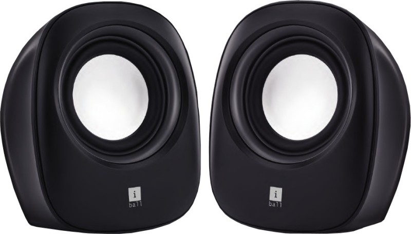 iBall SoundWave 2 Multimedia 2.0 Speaker(Black, 2 Channel)