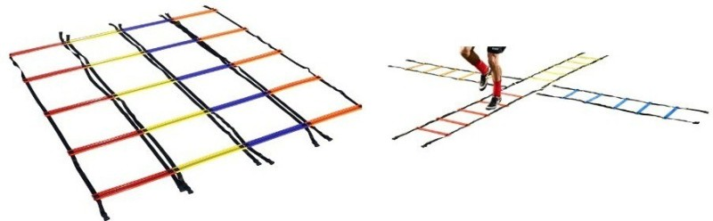 Sahni Sports Multi Color Criss Cross Quad (2 Mtr x 4 Pc) Speed Ladder( )