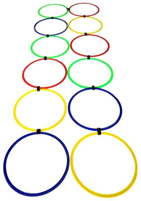 Sahni Sports Agility Ring Ladder Pack Of 12 Hoop Set( )
