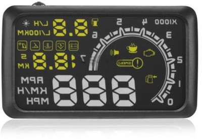 Vheelocityin Car HUD HeadsUp Display Direct Plug and Play For Fiat Punto Evo Digital Speedometer(Fiat Punto Evo)