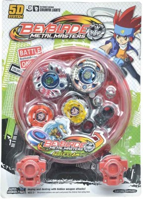 Lotus 5D System Super Battle Beyblade Metal Masters With Lights