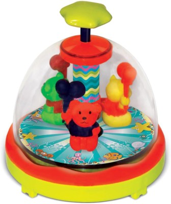Toyzee Press N Spin Spinning Teddies(Multicolor)
