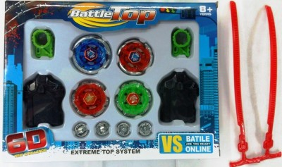 Parth Accessories 6d Battle Beyblades Set With Metal Tips