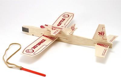 Guillow's Balsa Catapult Sling Glider Model With Piggyback Shuttle