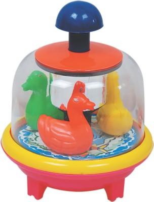Lovely Collection Push n Spinning Duck(Multicolor)