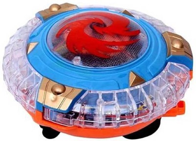 CP Bigbasket Magical Spinning Lights Lightning Rotate Unfolds Colourful Top Toy