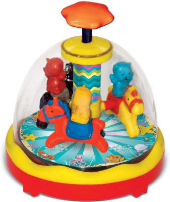 Toyzee Press N Spin Racing Horse
