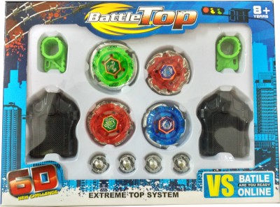 Just Toyz Abs Plastic 6 D Battle Top New Challenge Bayblade(Multicolor)