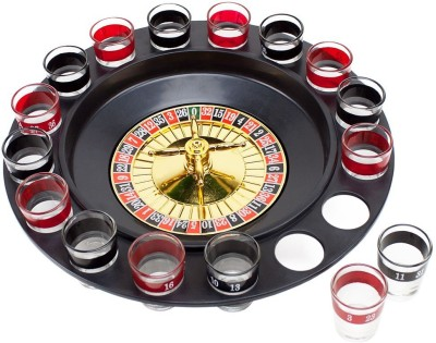 Smiledrive Casino Drinking Game Roulette Spin n Shot - with 16 Shot Glasses