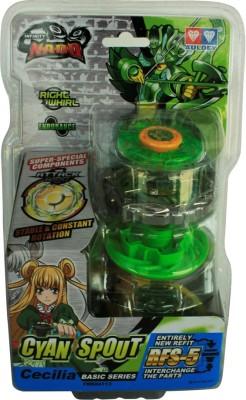 Infinity Nado Cyan Spout - Endurance Top (without RFID)(Green)