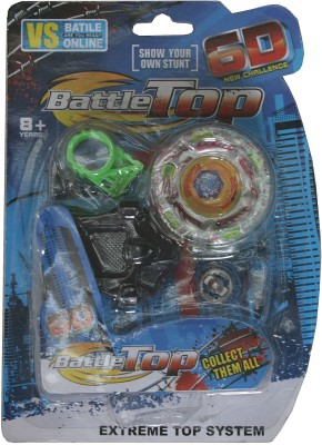 Adraxx 6D New Challenge Blue Battle Metal Top Beyblade