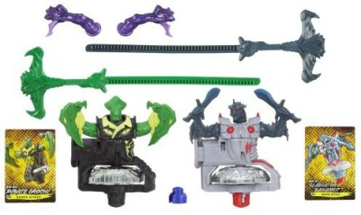 Beyblade Shogun Steel Beywarriors Dark Vs Water Element 2Pack