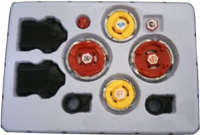 WTR Beyblade Set Of Four With Multiple Launchers And Winders