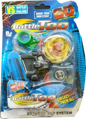 Just Toyz Abs Plastic 6 D Battle Top Extreme Top System Bayblade