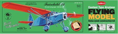 Guillow's Fairchild 24 Contest Balsawood Scale Model With 3 Mode Power Flying(Multicolor)