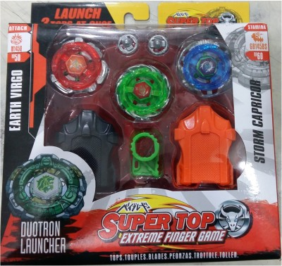 Beyblade 6D System Super Top Extreme Fighter Metal Fusion with Stadium(Multicolor)