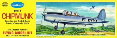 Guillow's Canadian English Trainer Dhc-1 Chipmunk Scale Flying Model Plane Kit