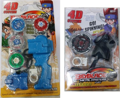 Beyblade 4D System Combo Metal Masters Fury With Handle Launcher