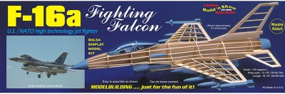 Guillow's Us Nato F-16a Fighting Falcon Figher Display Non Flying Collector Model Plane(Multicolor)