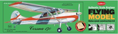 Guillow's Cessna 170 Authentic Balsaa Wood Flying Collectors Model(Multicolor)