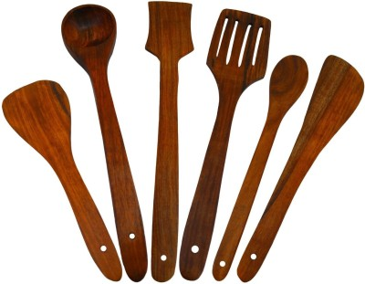 Craftgasmic Disposable Wooden Cooking Spoon Set(Pack of 6)