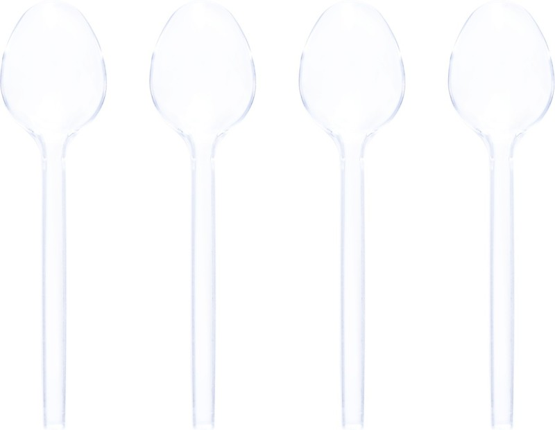 CLASSY Disposable Plastic Serving Spoon Set(Pack of 100)
