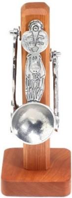 Crosby & Taylor Moose Pewter Measuring Spoon Set On Cherry Wood Display Post at flipkart