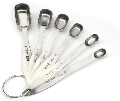 Spring Chef Disposable Stainless Steel Measuring Spoon Set(Pack of 6)