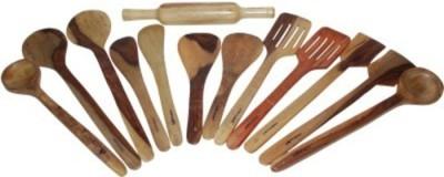 Onlineshoppee Wooden Serving Spoon Set