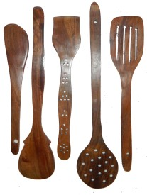 limra handicrafts Disposable Wooden Wooden Spoon Set(Pack of 5)