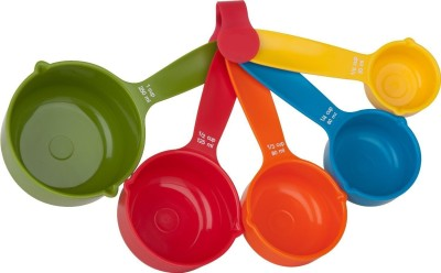 Yangli Set Of 5 Pieces Multicolor Plastic Measuring Spoon Set(Pack of 5)