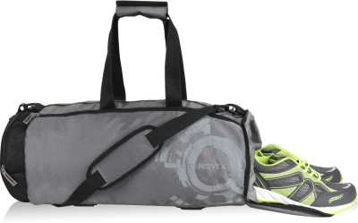Novex Rove Gym bag(Grey, Kit Bag)