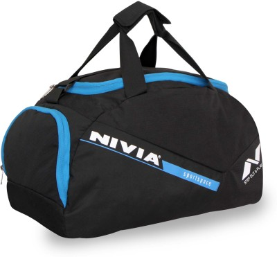 Nivia Sports Space Gym Bag 12 inch/30 cm Travel Duffel Bag(Black, Blue)