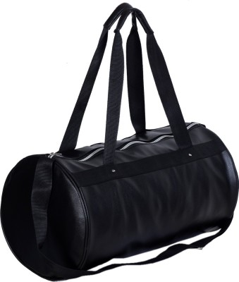 Dee Mannequin Voguish Black Leather Rite Travel Duffel Bag(Black)