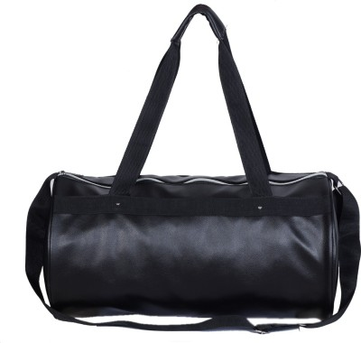 Dee Mannequin Vivacious Black Leather Rite Gym Bag(Black, Kit Bag)