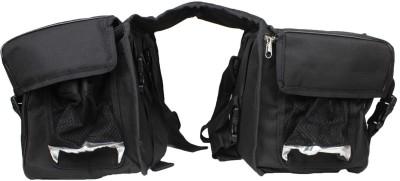 Saumya Customs Customized Saddle Bag(Black, Saddle Bag)