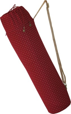 YOGE Maroon Bag with pocket & adjustable strap (For Yoga Mats of upto 8mm thickness)