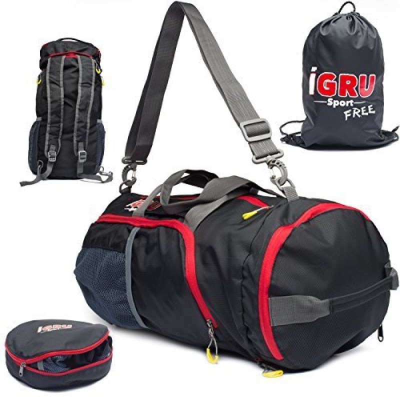 IGRU Sport Duffel Backpack Backpack(Black, Kit Bag)