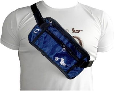 BikeStuff Strap Around Body Bags for Sports/Biking/Outdoors (Navy Blue) Frontpack