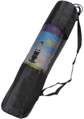 The SweatShop CarryBag for yoga mat (with Nylon Mesh)- Black Yoga Mat Carry Bag