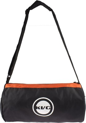 KVG Companion 16 inch/40 cm Travel Duffel Bag(Black, Orange)