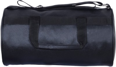 Dee Mannequin Vintage Black Leather Rite Gym Bag(Black, Kit Bag)
