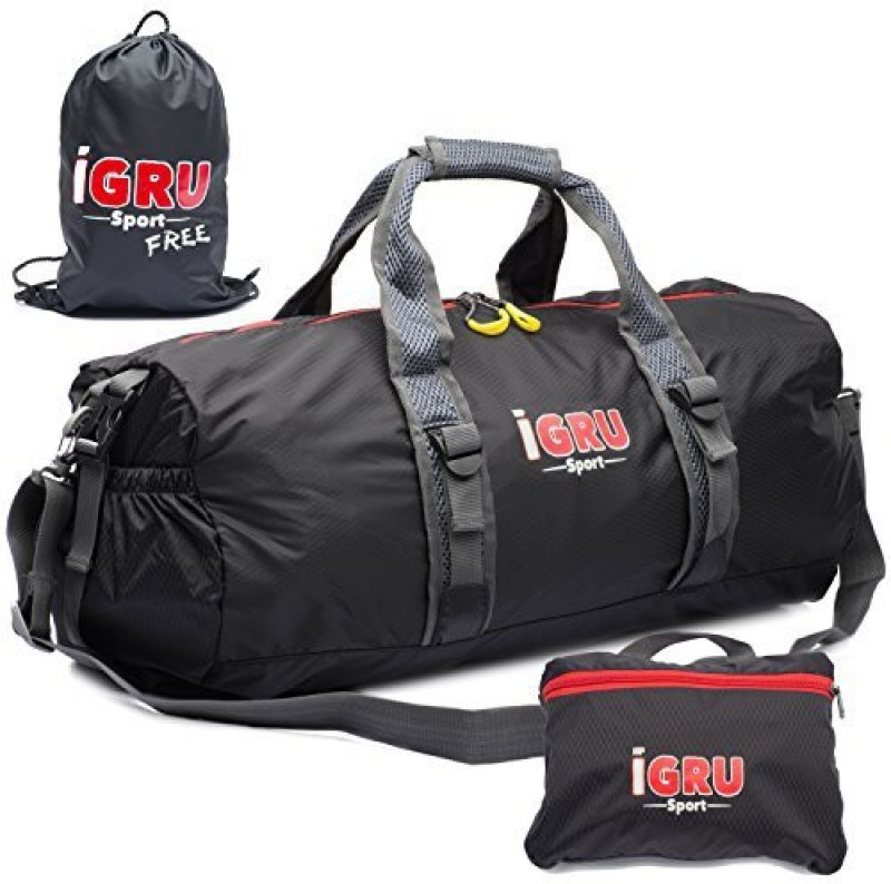 IGRU Sport Foldable Duffel Duffel Bag(Black, Kit Bag)